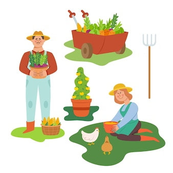 Coleção de agricultores