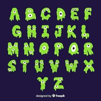 Coleção de alfabeto de halloween assustador