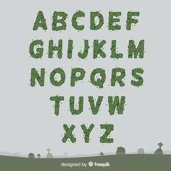 Coleção de alfabeto de halloween