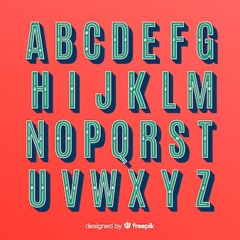 Coleção de alfabeto de natal vintage