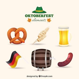Coleção de alimentos oktoberfest