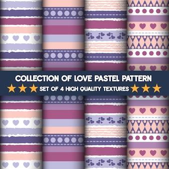 Coleção de amor pastel elemento sem costura padrão
