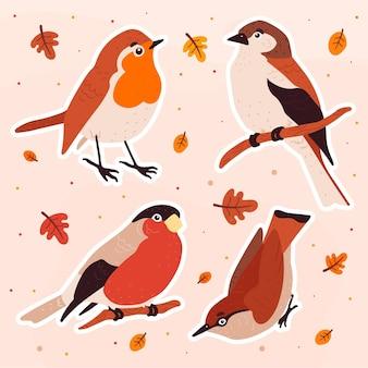 Coleção de animais da floresta de outono
