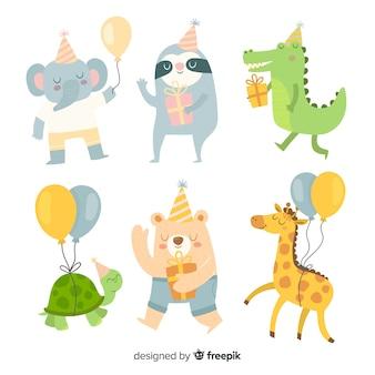 Coleção de animais de aniversário