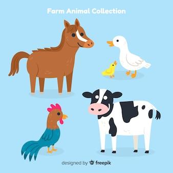 Coleção de animais de fazenda