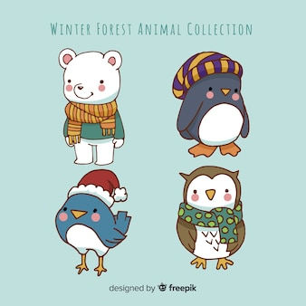 Coleção de animais de inverno