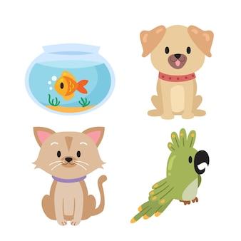 Coleção de animais diferentes