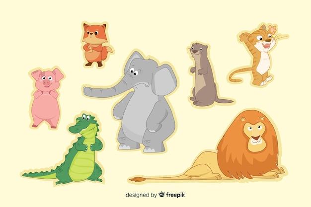 Coleção de animais dos desenhos animados de natureza