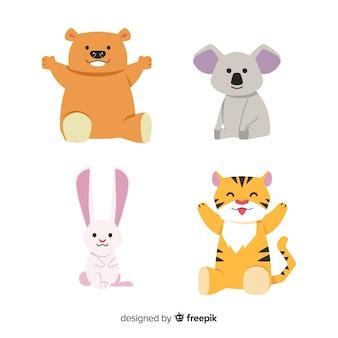 Coleção de animais dos desenhos animados