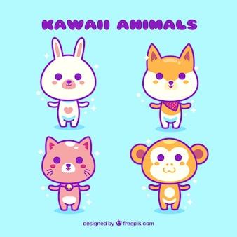Coleção de animais kawaii