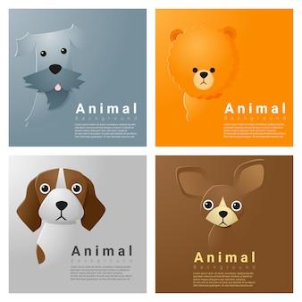 Coleção de animais retrato com cães