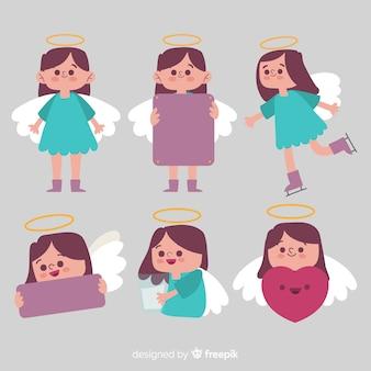 Coleção de anjo de menina de natal
