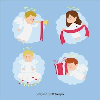 Coleção de anjo de natal
