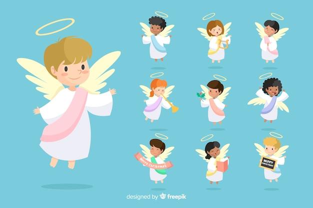 Coleção de anjo desenhada