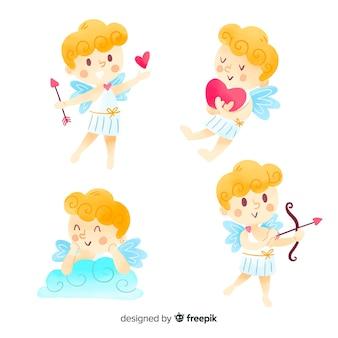 Coleção de anjo do dia dos namorados