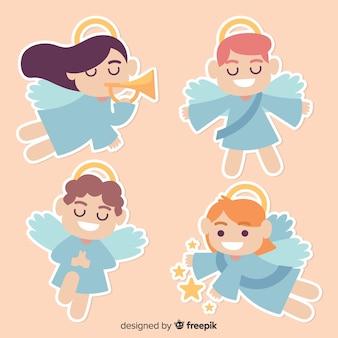 Coleção de anjo natal bonito