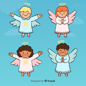 Coleção de anjos encantadores