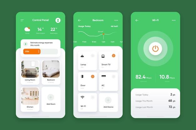 Coleção de aplicativos de casa inteligente