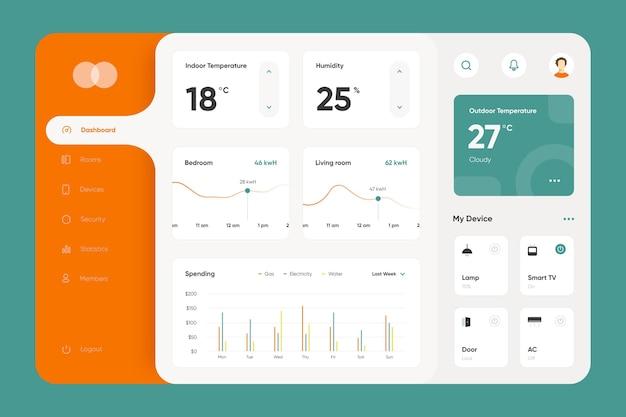 Coleção de aplicativos de gerenciamento de casa inteligente