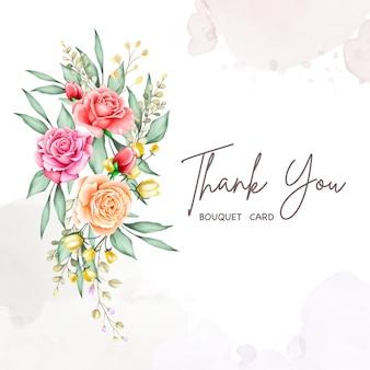 Coleção de aquarela de quadro de buquê de flor