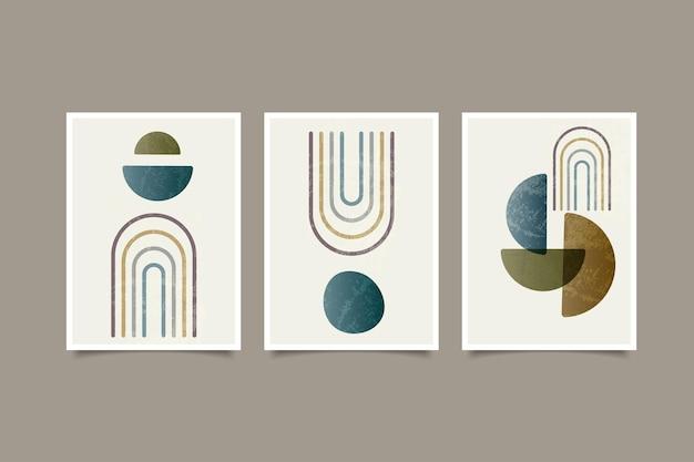 Coleção de arte abstrata de parede de pôster moderno boho