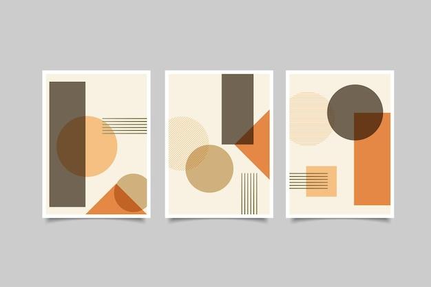 Coleção de arte de parede geométrica abstrata