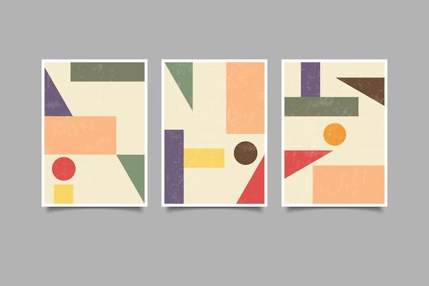 Coleção de arte geométrica de parede vintage