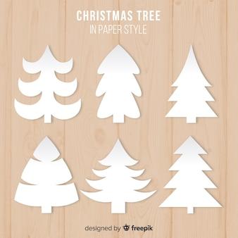 Coleção de árvore de natal de papel