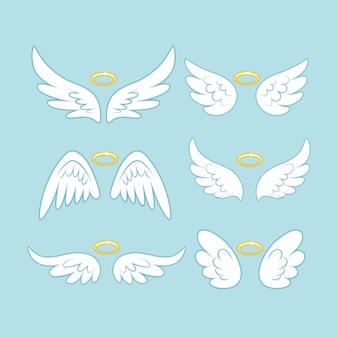 Coleção de asas de anjo