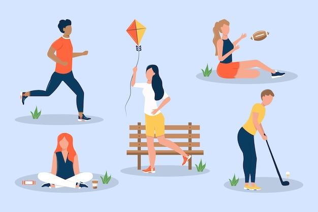 Coleção de atividades ao ar livre de verão
