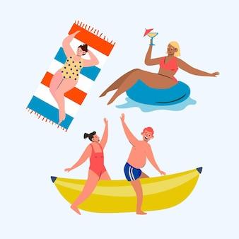 Coleção de atividades ao ar livre do verão