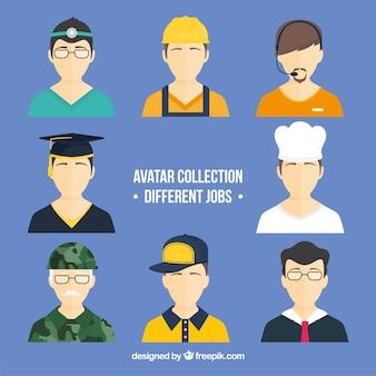 Coleção de avatar com diferentes empregos