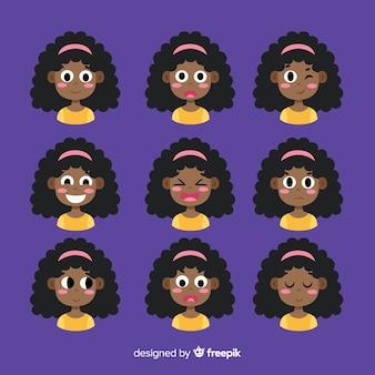Coleção de avatar de emoções diferentes