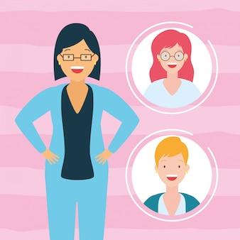 Coleção de avatar de mulheres