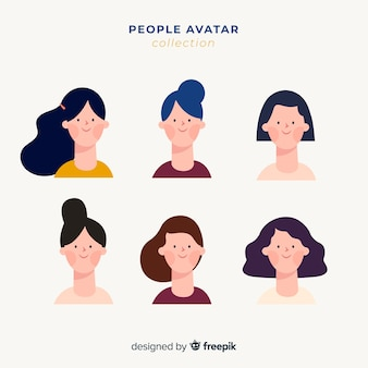 Coleção de avatar de pessoas