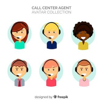 Coleção de avatares de call center