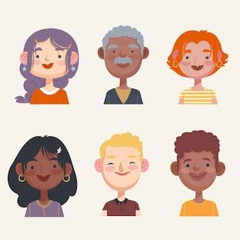 Coleção de avatares de pessoas