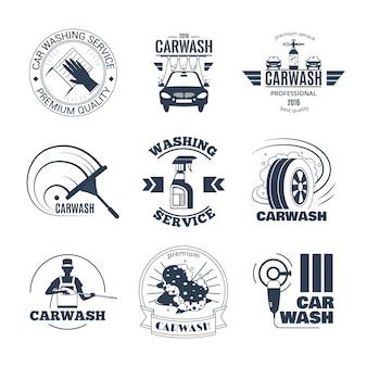 Coleção de bades de lavagem de carro