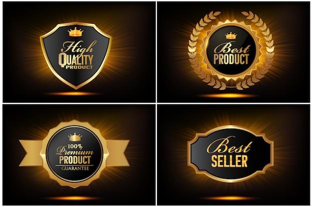 Coleção de badges vintage de alta qualidade