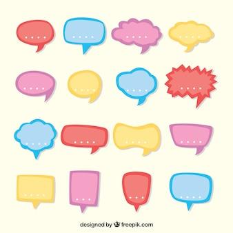 Coleção de balão de fala em cores