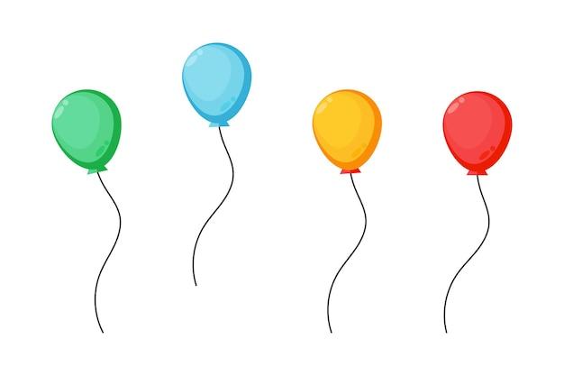 Coleção de balões coloridos