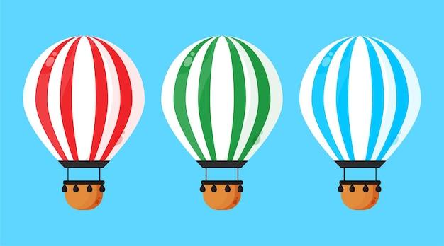 Coleção de balões de ar quente