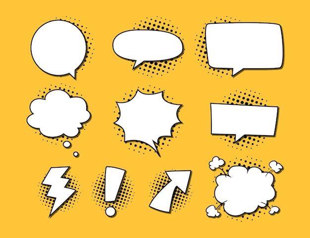 Coleção de balões de fala em quadrinhos