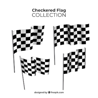 Coleção de bandeira quadriculada
