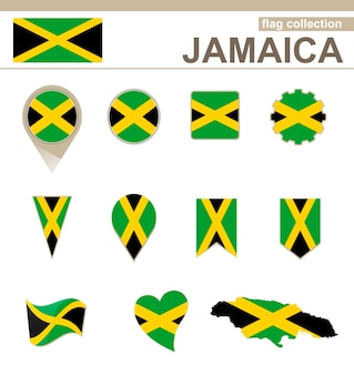 Coleção de bandeiras da jamaica, 12 versões