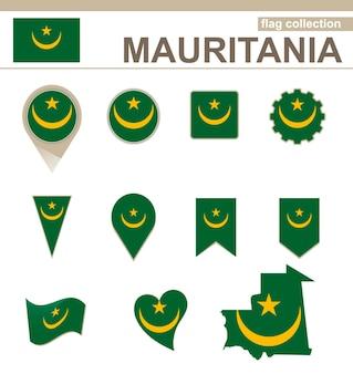 Coleção de bandeiras da mauritânia, 12 versões