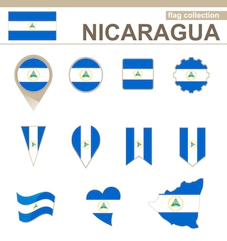 Coleção de bandeiras da nicarágua, 12 versões