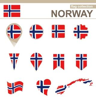 Coleção de bandeiras da noruega, versões