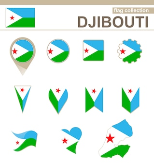 Coleção de bandeiras de djibouti, 12 versões
