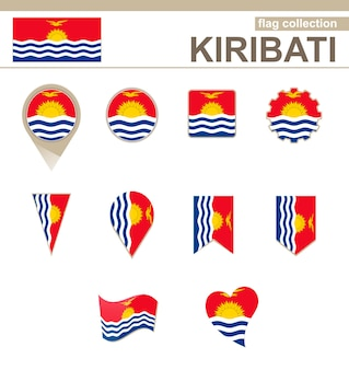 Coleção de bandeiras de kiribati, 12 versões